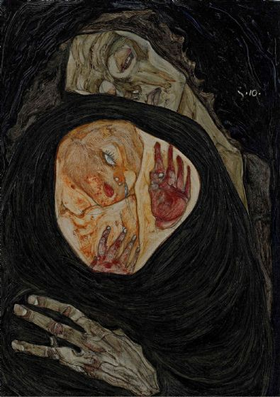 Schiele, Egon: Dead Mother I. Fine Art Print/Poster. Sizes: A4/A3/A2/A1 (003676)